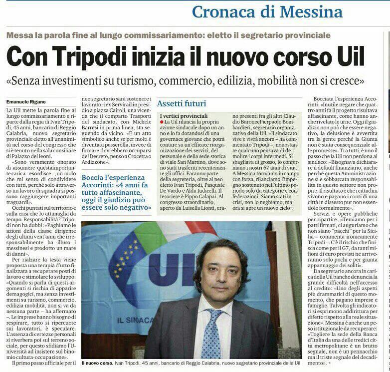 Congresso straordinario UIL Messina (Messina, 6 marzo 2017)