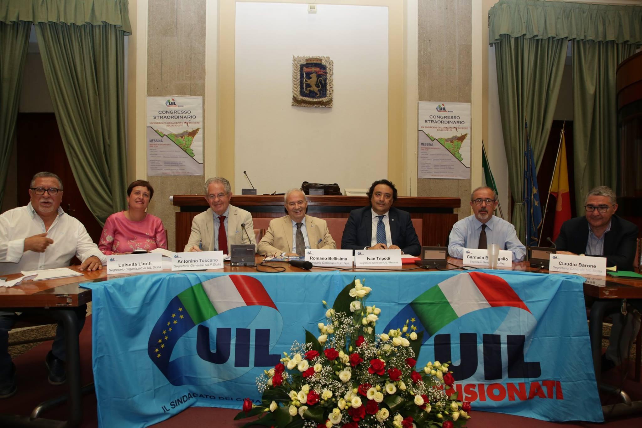 Congresso straordinario UIL Pensionati Messina (Messina, 20 giugno 2017)