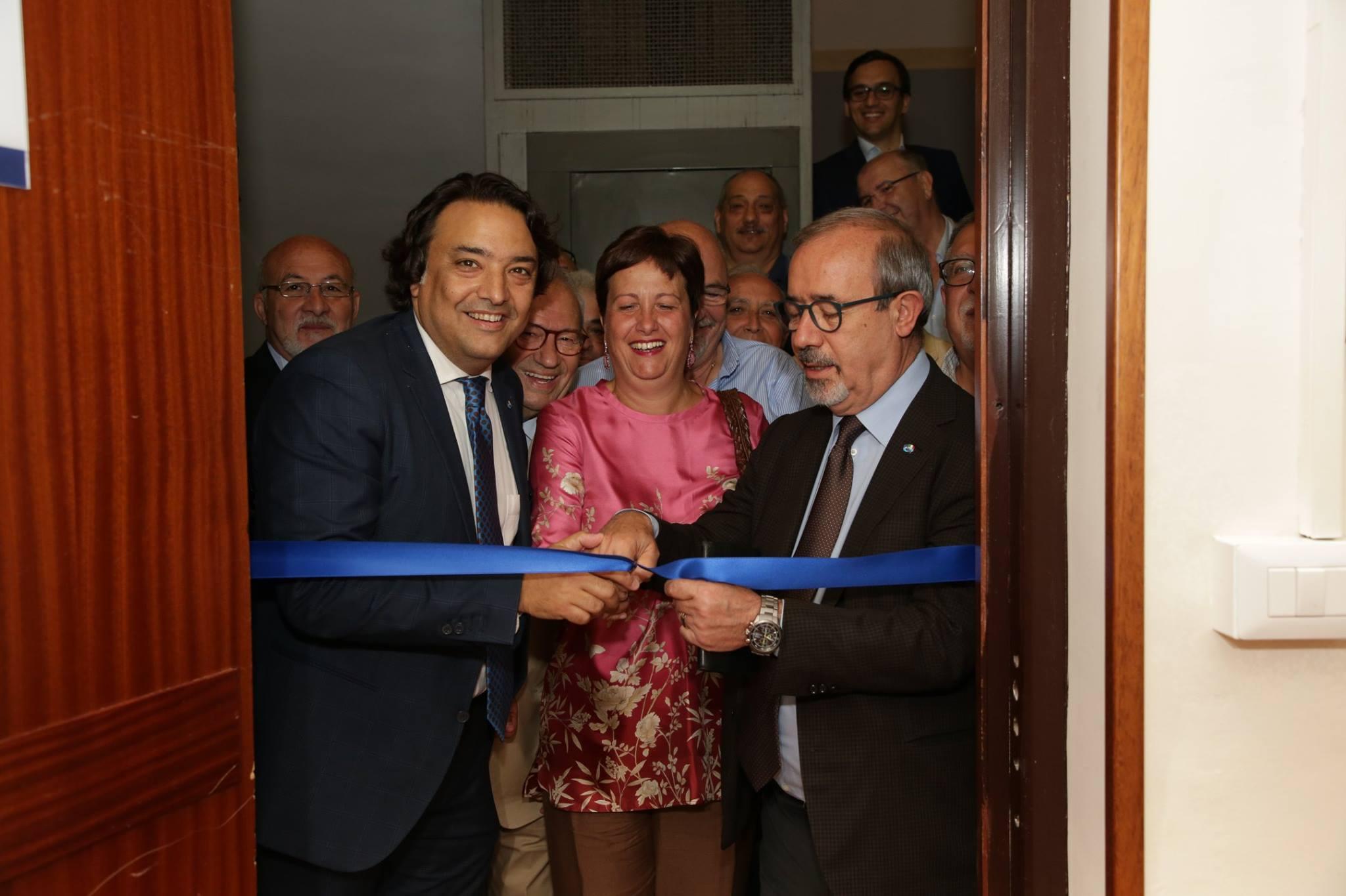 Inaugurazione nuova sede UIL Messina con il segretario generale Carmelo Barbagallo (Messina, 20 giugno 2017)
