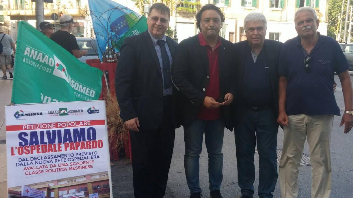 Petizione popolare contro il declassamento dell'Ospedale Papardo (Messina, 30 giugno 2017)
